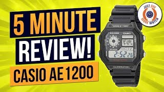 5 Minute Watch Review - Casio AE1200 - Casio Royale!!