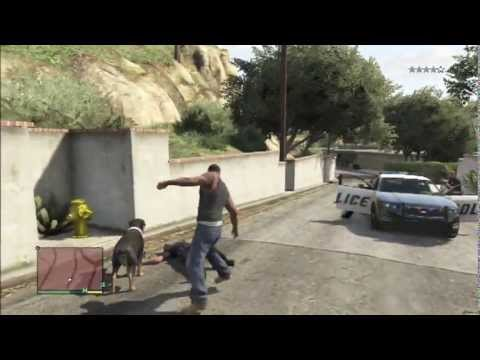 gta 5 chien d attaque vs police fun - YouTube