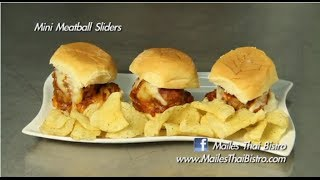 Mini Meatball Sliders With Miss Hawaii 2014 Moani Hara : In The Kitchen With Maile