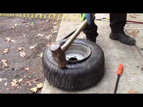 Changing a tire manually