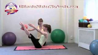 Pilates Workout Exercise: Teaster Twister with Small Ball