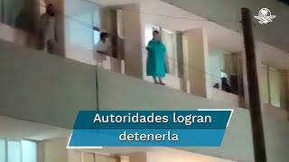 La paciente intentó arrojarse del segundo piso del Hospital General de Zona número 2 del IMSS