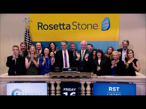 Rosetta Stone Catalyst Meets Wall Street - NYSE Closing Bell Ceremony