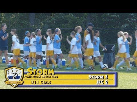 PVSC U11 Girls Gold soccer vs JFC 04 27 2014