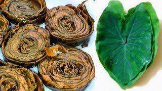 Arbi ke Patte ke Pakode / अरबी के पत्ते के पकौड़े / Rikwach / Patra / Monsoon Specia Steamed Pakode