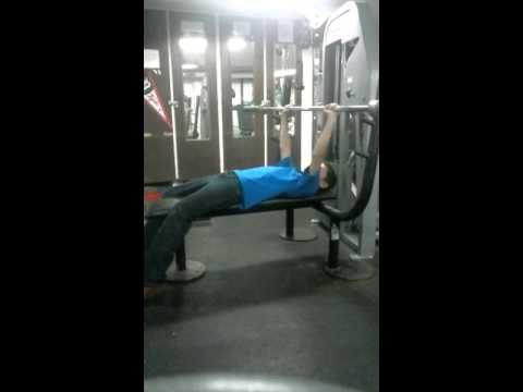 me working out at Carney nadeau school in weight r
