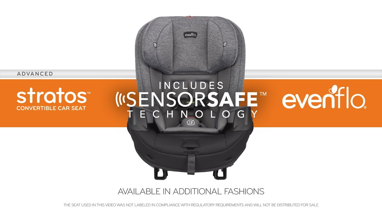 Evenflo Advanced StratosTM Convertible Car Seat With SensorSafeTM Technology