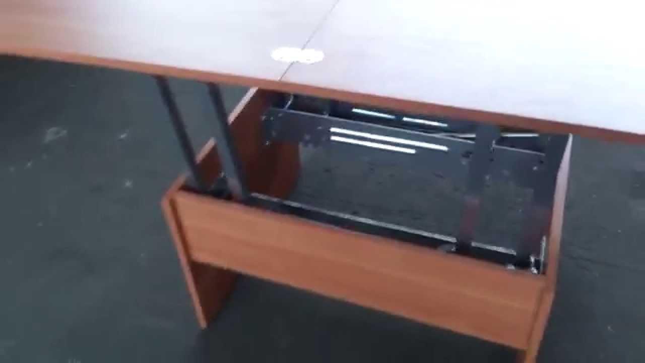 Мебель трансформер - диван с встроенным журнальным столиком - YouTube