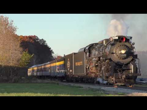 Chasing PM 1225 Lima Locomotive Works Berkshire 2-8-4 steam engine