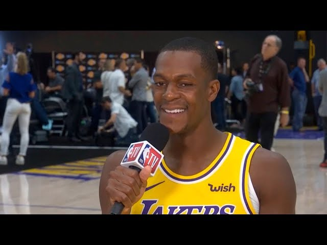 c5406167acc Rajon Rondo on his new team   playing alongside LeBron James