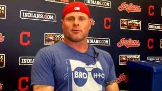 Indians DH/1B Jason Giambi talks about his rib injury