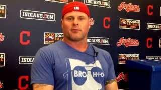 Indians DH/1B Jason Giambi talks about his rib injury