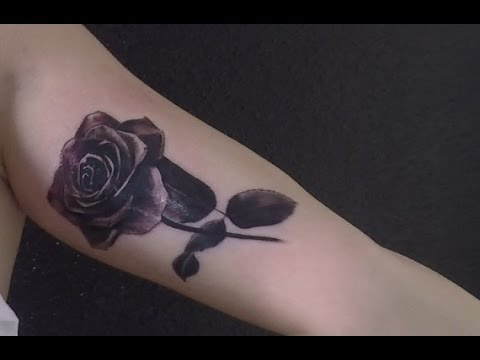 Black Rose Tattoo Timelapse Thejota Youtube