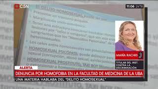 Denuncia por homofobia en la facultad de medicina de la UBA