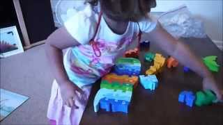 My 2 Year Old Doing A Wooden Jigsaw Puzzle - Sped Up