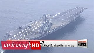 South Korea-U.S. joint drills to begin Monday... upping pressure on North Korea
