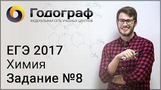 ЕГЭ по химии 2017. Задание №8.