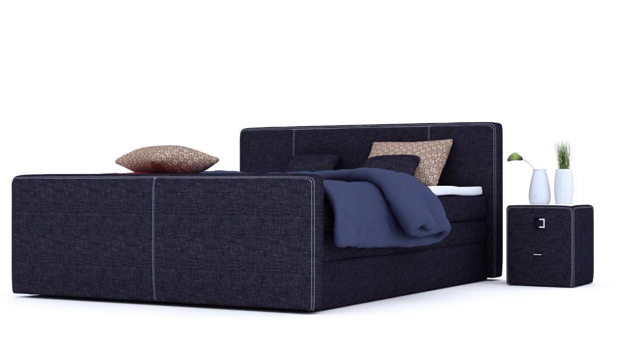 Boxspringbett aufbau topper  Boxspringbett mit Bettkasten inkl. Topper und Kissen - YouTube