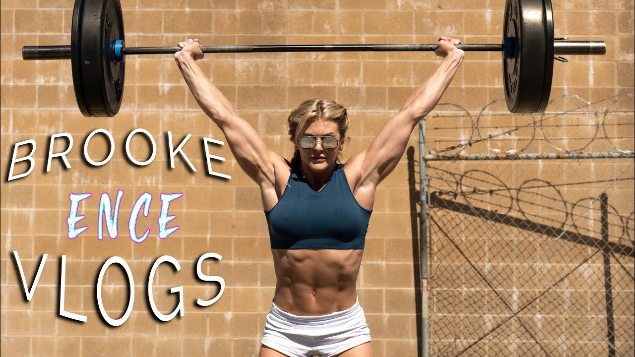 BROOKE ENCE VLOGS | Heavy Snatches and A killer Metcon. A Single Day At West Fitness