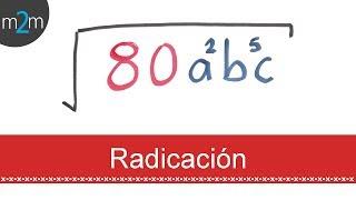 Radicación de expresiones algebraicas │ compilado