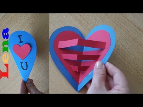 kreative-kids-mit-lena---herz-karte-basteln---muttertagskarte-basteln---how-to-make-a-heart-card