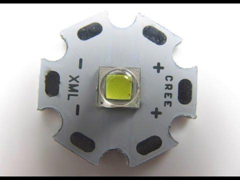 видео: Светодиод xml2 t6 10w для фонарика