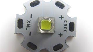 Светодиод XML2 T6 10W для фонарика(Отличные светодиоды в фонарик!!! Cree XML2 T6 10W Neutral White 4000=4500K High Power LED Light Emitter Beaad for flashlight on 20mm Star PCB ..., 2016-02-17T05:00:01.000Z)