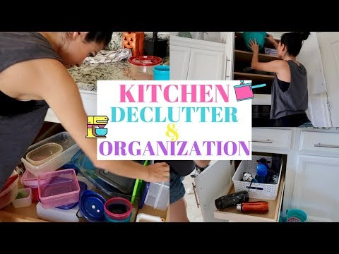 ORGANIZE and DECLUTTER MY KITCHEN 2017|| CLEAN WITH ME