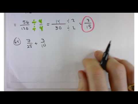 Mat 1100 Section 1.2 Adding and Subtracting Fractions