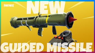 GUIDED MISSILE *SOUND GLITCH* Crazy New Rocket Launcher OVER POWERED - Fortnite Battle Royale!!