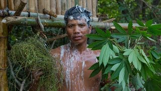 Primitive Technology: Make Shampoo  Hair/Body Use Jungle Plants