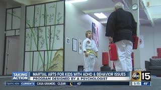 A psychologist developed the program to use martial arts to help th...