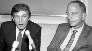 Donald Trump and mentor Roy Cohn.