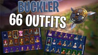 Buckler Back Bling on 66 Outfits | Highland Warrior - Fortnite