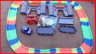 MAGIC TRACKS TOY CARS CHALLENGE! AS SEEN ON TV TOYS UNBOXING AND KIDS PLAYTIME,ADVENTURE TRACK SET