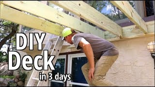 How to Build a deck DIY Style in 3 days Step by step Beginners guide