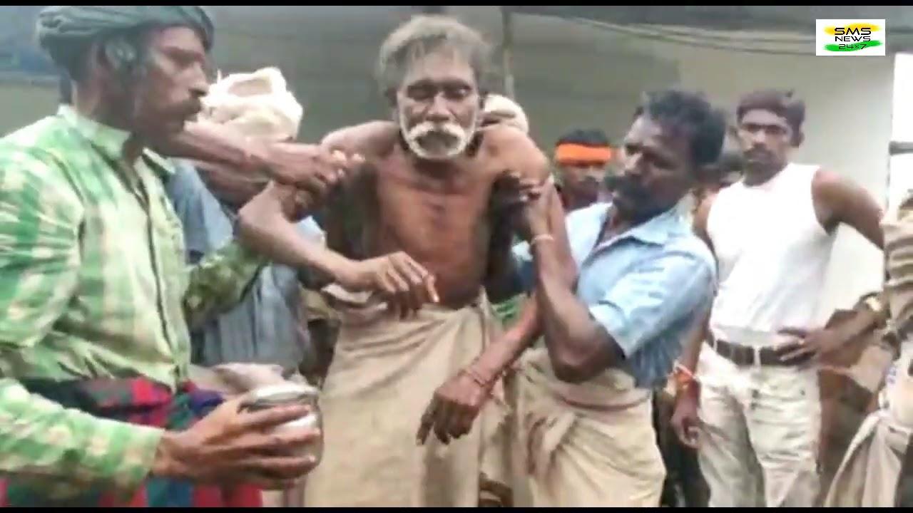 भीलो का पर्व बड़वा धुणते हुई गाव की जातेर करत आदिवासी त्योहारों पर्व मनाते हुएवीडियो में