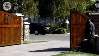 Tuscany Style Driveway & Entry Gates | Mulholland Security Los Angeles 1.800.562.5770