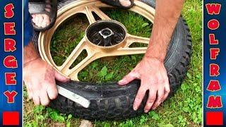 Как бортировать колесо на мотоцикле Yamaha ybr 125