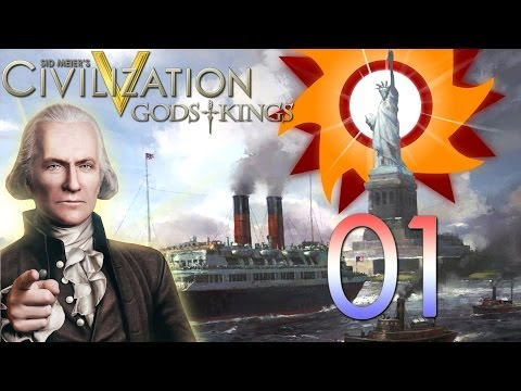 Civilization V Gods and Kings - America - Episode 1 ...1,500 Subscriber 1-Hour Special...