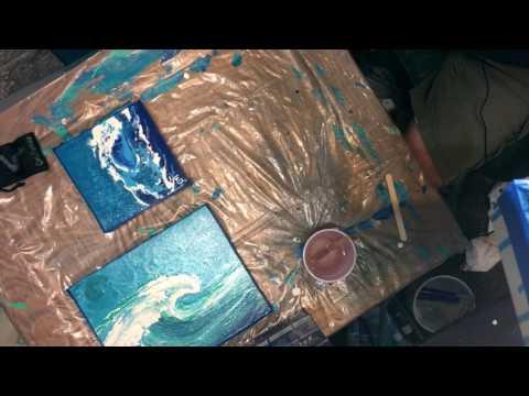 Epoxy Resin Canvas Fluid Art for Beginners by Carl Mazur