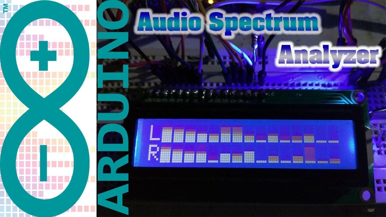 ARDUINO PROJECT : Audio Spectrum Analyzer LCD 2x16 + Code