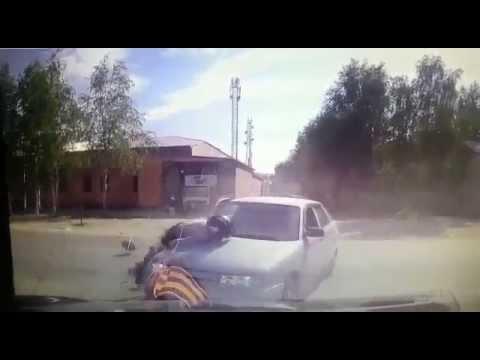 Авария мотоциклиста в г Мегионе