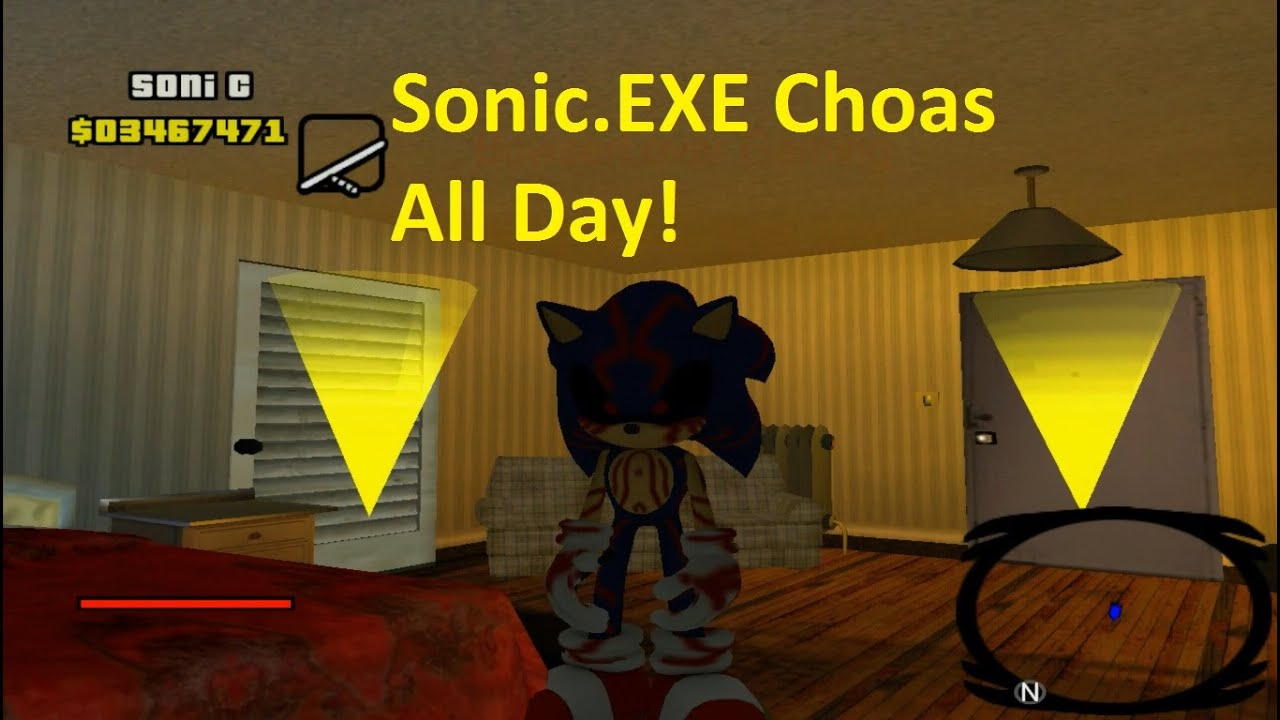 Gta San Andreas Sonic Mod Sonic Exe Chaos Pc Gameplay Part  Youtube