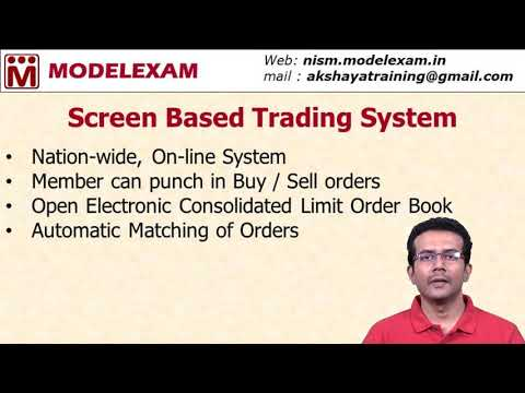 Capital Market - Screen Based Trading System