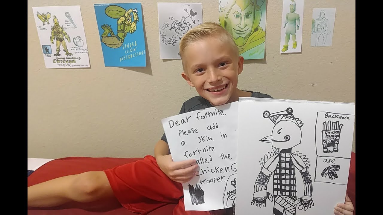Fortnite puts eight-year-old's Tender Defender skin design into the