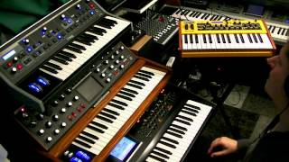 ogue Synth Power - Studio Jam with 2 Moogs and a Dave Smith Mopho keys in the lead