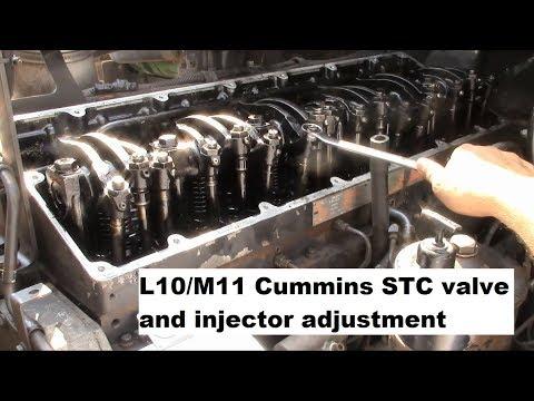 Truck Repairs: L10/M11 Cummins STC valve and injector
