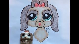 LPS Dog Drawing (speed draw)