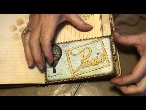 Junk journal Paris themed
